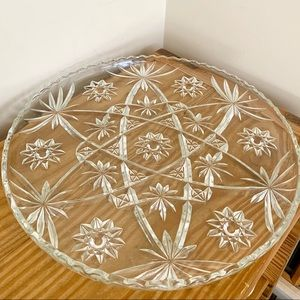 VTG Etched Glass Serving Tray